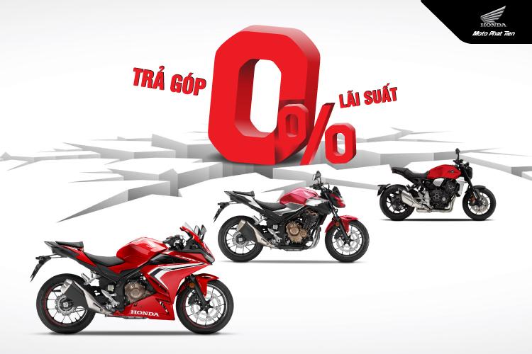 Ưu đãi 0% lãi suất tại Honda Moto Phát Tiến